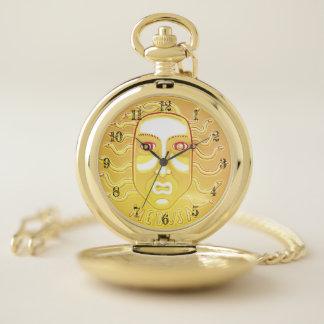 クラゲのコイン・ゴールドの壊中時計 ポケットウォッチ