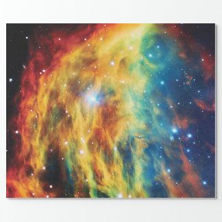 クラゲの星雲のハッブルの宇宙の写真 ラッピングペーパー