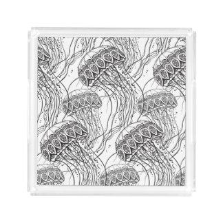 クラゲの落書き アクリルトレー