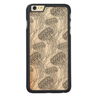 クラゲの落書き CarvedメープルiPhone 6 PLUS スリムケース