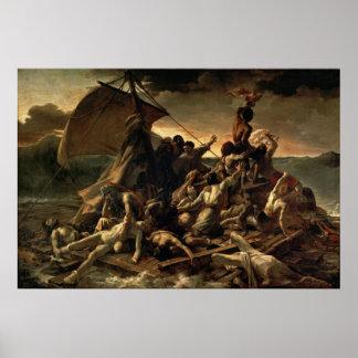 クラゲ- Théodore Géricaultのいかだ ポスター