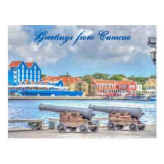 クラサオ島からの郵便はがきの挨拶 ポストカード
