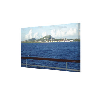 クラサオ島の海岸線 キャンバスプリント