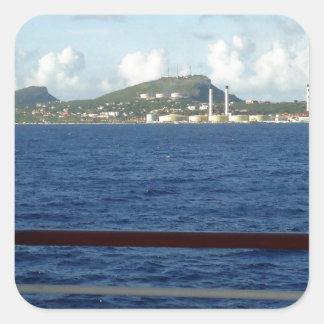 クラサオ島の海岸線 スクエアシール
