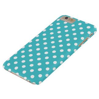 クラサオ島の青い水玉模様のiPhone 6のプラスの場合 Barely There iPhone 6 Plus ケース