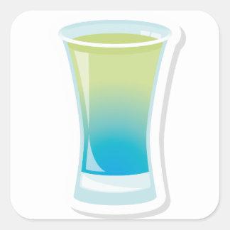 クラサオ島の青いshotglass スクエアシール