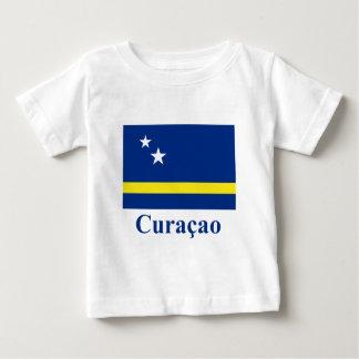 クラサオ島はオランダの名前と印を付けます ベビーTシャツ