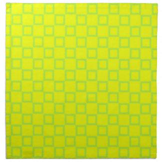 クラシカルで黄色く、真新しい緑のナプキン ナプキンクロス