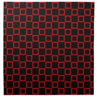 クラシカルで黒く赤いナプキン ナプキンクロス