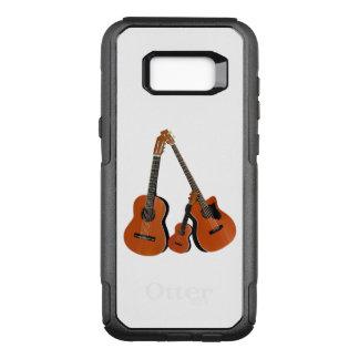 クラシカルなギターの音響の低音およびウクレレ オッターボックスコミューターSamsung GALAXY S8+ ケース