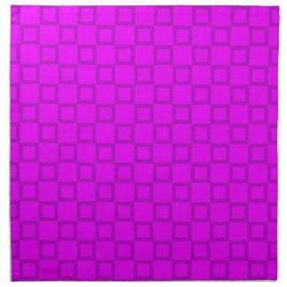 クラシカルなピンクおよび紫色のナプキン ナプキンクロス