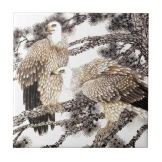 クラシカルな中国様式の芸術、木の鳥 タイル