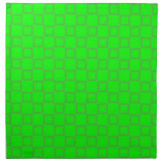 クラシカルな薄緑のナプキン ナプキンクロス