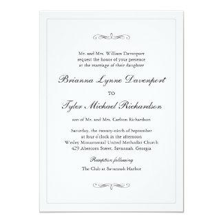クラシックでシンプルな優雅の結婚式 カード