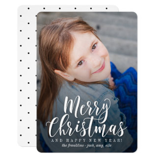 クラシックでモダンな休日カードクリスマスカード カード