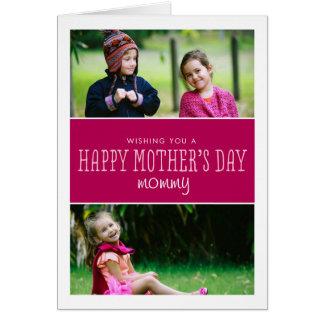 クラシックで及びモダンな母の日の写真カード カード