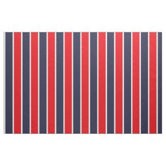 クラシックで大きくはっきりしたで赤く青い白のストライプパターン ファブリック