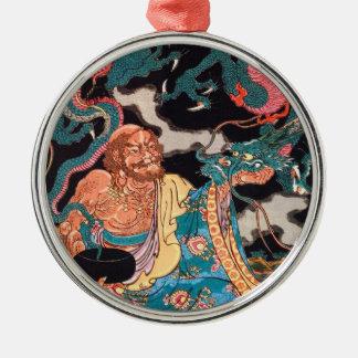 クラシックで日本のな伝説の戦士のドラゴンの芸術 メタルオーナメント