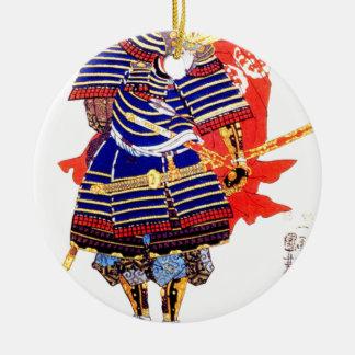 クラシックで日本のな武士の芸術日本 セラミックオーナメント