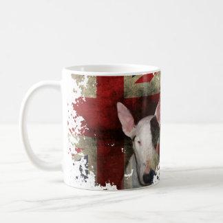 クラシックで白いマグの英国のブルテリアの旗のデザイン コーヒーマグカップ