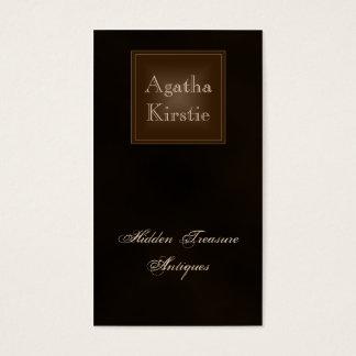 クラシックで豊富なチョコレート色の名刺 名刺