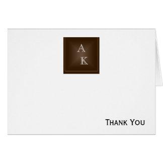 クラシックで豊富なチョコレート色 カード