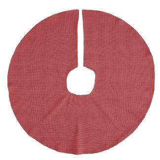 クラシックで赤い格子縞の休日の木の装飾 フェイクリネンツリースカート
