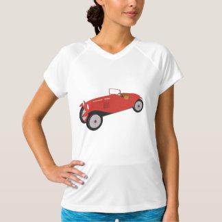 クラシックで赤い車レディース能動態のティー Tシャツ