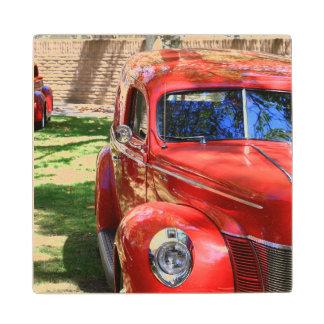 クラシックで赤い車 ウッドコースター