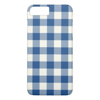 クラシックで青いギンガムのiPhone 7のプラスの場合 iPhone 8 Plus/7 Plusケース