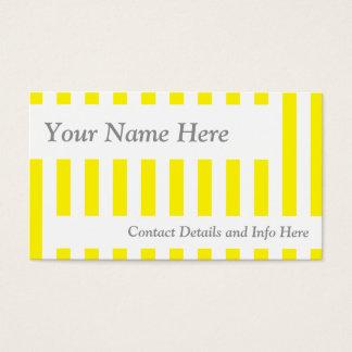 クラシックで黄色いレトロは縞で飾ります 名刺
