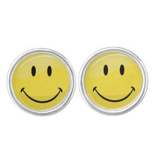 クラシックで黄色く幸せな顔 カフボタン