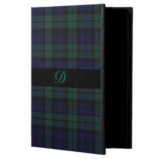 クラシックで黒い腕時計のタータンチェック格子縞のiPadの空気箱 iPad Airケース