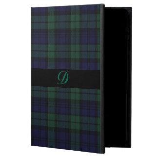 クラシックで黒い腕時計のタータンチェック格子縞のiPadの空気2箱 Powis iPad Air 2 ケース