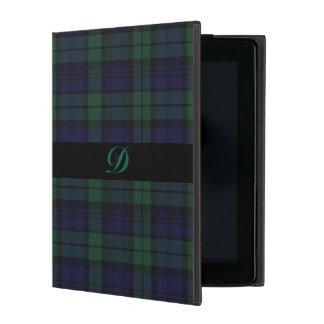 クラシックで黒い腕時計のタータンチェック格子縞のiPadの箱 iPad ケース