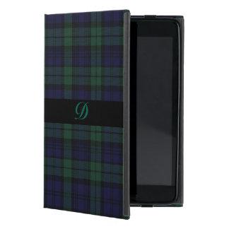 クラシックで黒い腕時計のタータンチェック格子縞のiPad Miniケース iPad Mini ケース