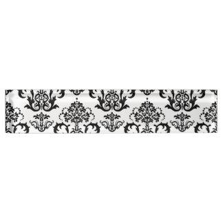 クラシックで黒く及び白いダマスク織の壁紙のプリント デスクネームプレート
