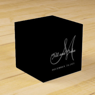 クラシックで黒く及び白いモノグラムの好意箱 フェイバーボックス