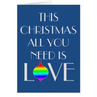 クラシックで、エレガントなゲイはクリスマスを方向づけました カード