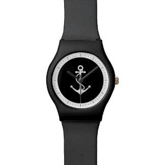 クラシックないかりの白黒航海のなデザイン 腕時計