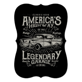 クラシックなアメリカ筋肉車| Hotrodのハイウェー カード