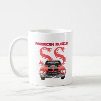 クラシックなアメリカ筋肉車Chevelle SS コーヒーマグカップ