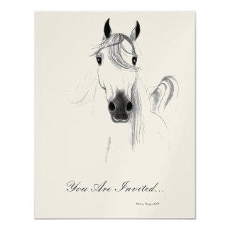 クラシックなアラビアの馬の招待状 カード