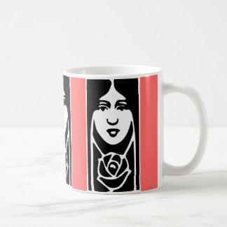 クラシックなアールデコの女性 コーヒーマグカップ