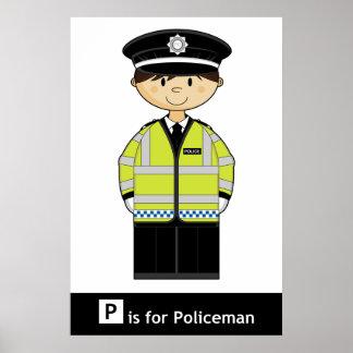 クラシックなイギリスの警官ポスター ポスター