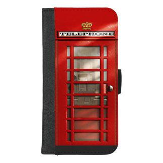 クラシックなイギリスの赤い電話ボックス iPhone 8/7 PLUS ウォレットケース
