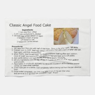 クラシックなエンゼル・ケーキのレシピ キッチンタオル