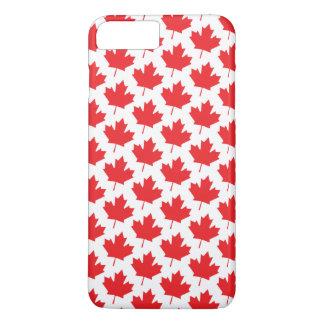 クラシックなカナダ人のカナダ日のアメリカハナノキの葉パターン iPhone 8 PLUS/7 PLUSケース