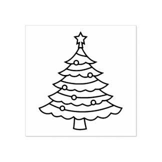 クラシックなクリスマスツリー ラバースタンプ