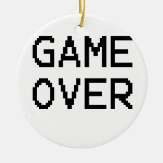 クラシックなゲームの文字上のゲーム セラミックオーナメント